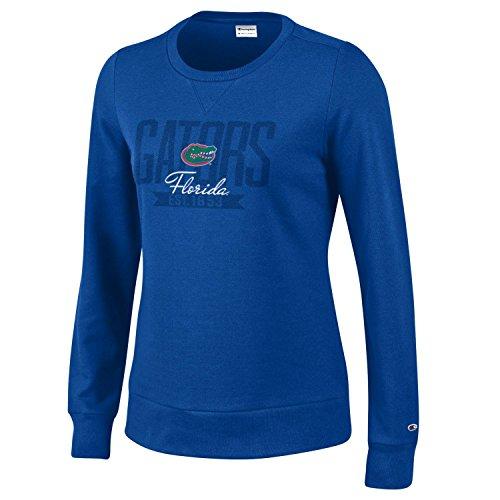Ncaa Florida University - Champion NCAA Florida Gators Women's University Fleece Crew, X-Large, Royal Blue