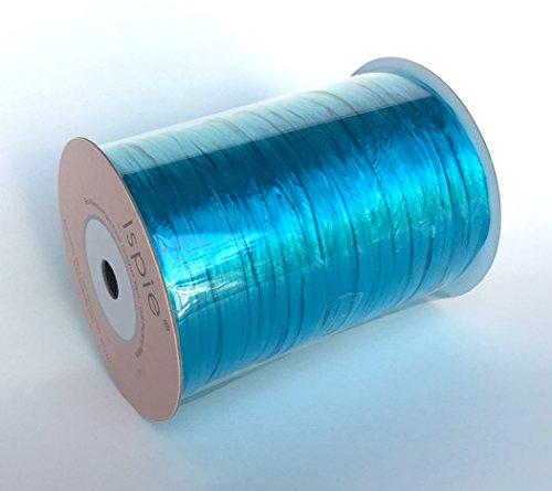 """Ispie Rayon Raffia Ribbon Crochet Yarn 1/4"""" 100-Yard Pearlized Colors (Bright Sky)"""