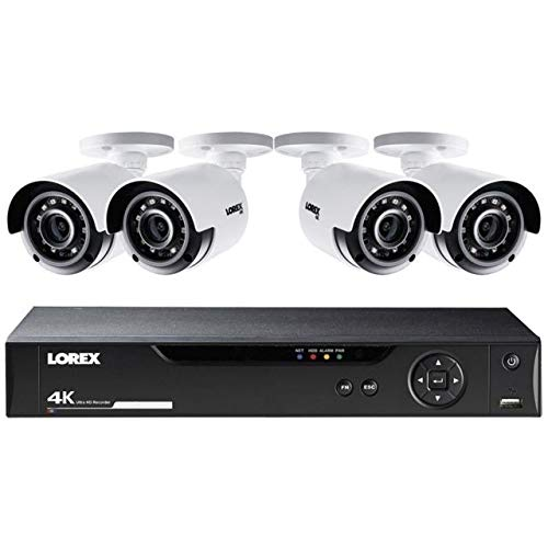 Lorex LHV5100 Series 8-Channel 4K UHD DVR Bundle with 1TB HDD and 4X LBV8531B 4K UHD Network Bullet Cameras with 135' Night Vision, H.264+