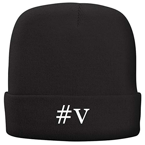 BH Cool Designs #v - Adult Hashtag Comfortable Fleece Lined Beanie, Black
