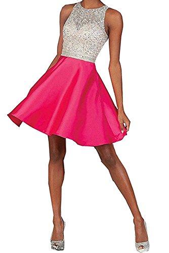 Abendkleider kurz in pink