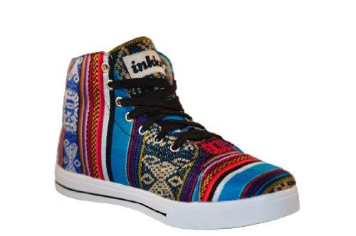 Inkkas Hand Gr Sneaker High in Schuhe Handgefertigt 40 Südamerika Schnürhalbschuhe Peru 44 Made BlueBird gt; gt; T6rwqT