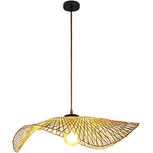 (Shfmx Postmodern Minimalist Pendant Lamp, Nordic Style Designer Handmade Straw hat Chandelier,Environmentally Bedroom Balcony Living Room Cafe Hanging Lamp,55cm)