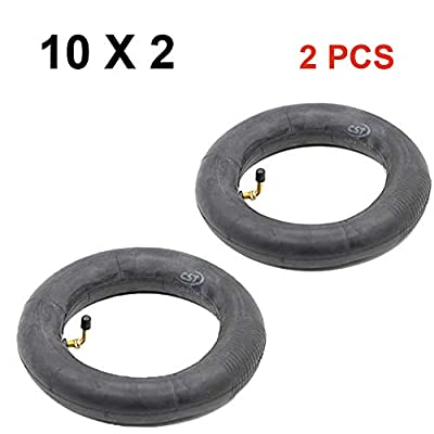 Yifant Inflated Inner Tube 10 x 2 Pack of 2 Pcs for 10 Inch Electric Scooter Replacement Wheel Thicken Anti Slip Spare Tire 1 Pair Inner Tubes (2 PCS Inner Tubes) : Sports & Outdoors