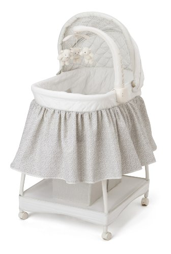 Delta Children Deluxe Gliding Bassinet, Silver Lining  by Delta Children (Image #1)