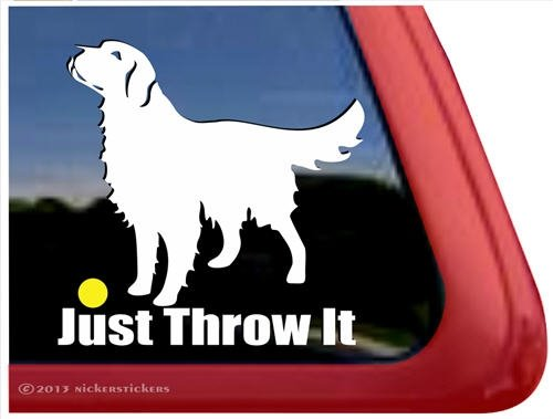 Just Throw Golden Retriever Sticker