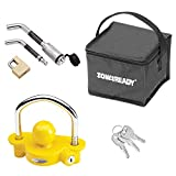 Tow Ready 63256 Deluxe Receiver and Trailer Coupler Lock (Keyed Alike Lock Set with Storage Bag)