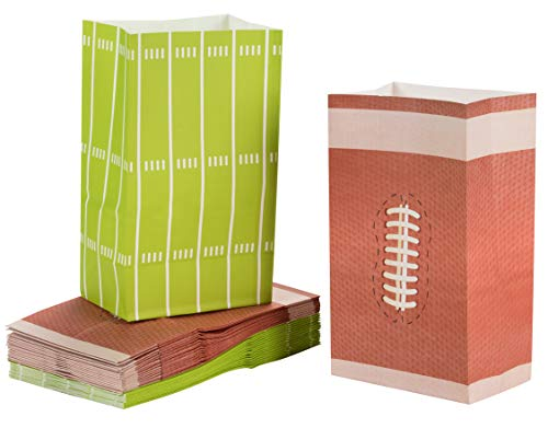 Football Themed Favors - Juvale Football Paper Treat Bags Party