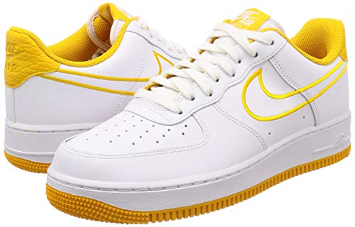 Pictures of Nike Men's Air Force 1 '07 White/ Yellow Ochre 7.5 M US 4