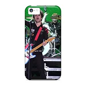 Protector Hard Phone Case For Iphone 5c (SUr2303GOwS) Unique Design High-definition Green Day Pattern