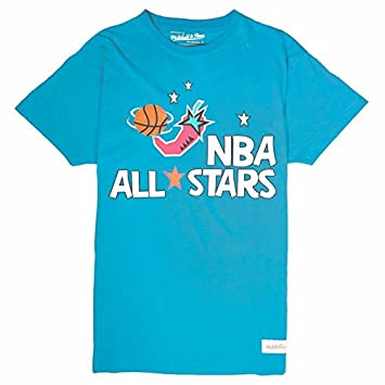 Mitchell & Ness NBA 1996 All-Star - Camiseta de Manga Corta, Color Azul