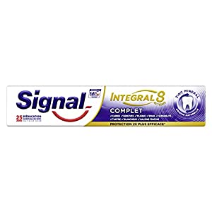 Signal Dentifrice Integral 8 Complet, Protection 18h, Action Anti-Plaque, Le tube de 75ml