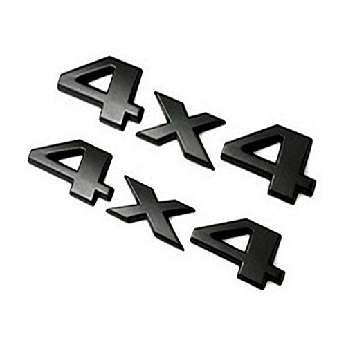 4 X 4 Tailgate (Wanty 4x4 Emblem Side Rear Tailgate Emblem Badges Nameplates Fits for Toyota Tundra Jeep Grand Cherokee and Others)