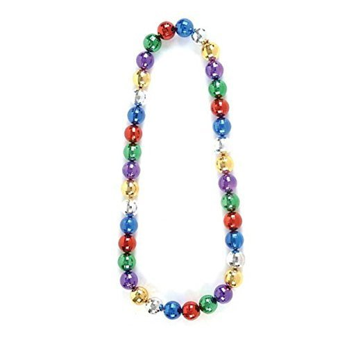 Mirror Ball Beads Large Multi Color (1 Per Order) (Boogie Man Costume)