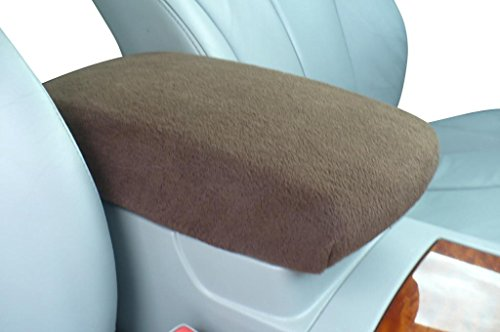 Auto Console Covers- Compatible with The Ford Edge 2007-2010 Center Console Armrest Cover Fleece - Brown
