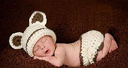 2cd1cc538ed2 Bear, Newborn Baby Girl Boy Crochet Knit Costume Photo Photography Prop  Hats Outfits (Bear): Amazon.co.uk: Baby