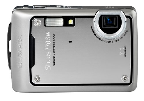 Olympus Stylus 770SW 7.1MP Digital Camera with 3x Optical Zoom (Silver) (Stylus 770sw)