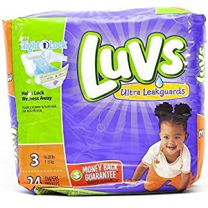 Luvs Ultra Leakguards Diapers Size 3 - 24 Count (Luv Diapers Size 3)