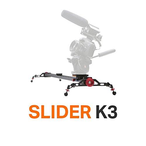 Konova Camera Slider Dolly K3 120cm (47.2 Inch) Track Aluminum solid rail smooth slide for Camera, Gopro, Mobile Phone, DSLR, Payloads up to 49bs (22kg) with Bag by Konova