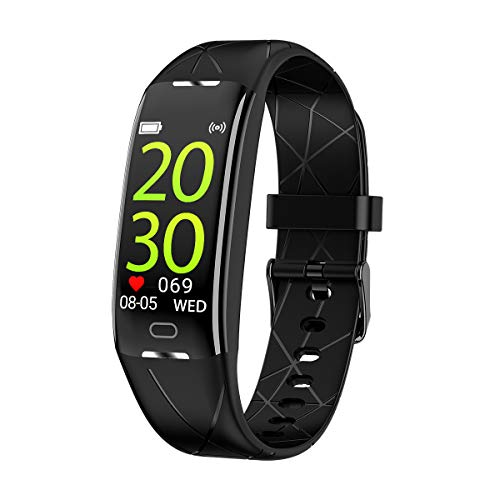 KEEPONFIT Fitness Tracker, Activity Tracker Watch with Heart Rate Monitor, IP68 Waterproof Pedometer Watch Smart Fitness Band with Step Counter for Kids Women and Men