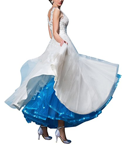 Ethel Women's Ankle Length Petticoats for Wedding Dress Blue