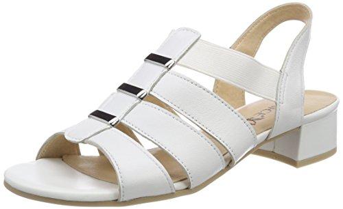 Caprice Blanco 28200 Para white De Sandalias 139 Taln Mujer Abierto Perlato OfqOpr
