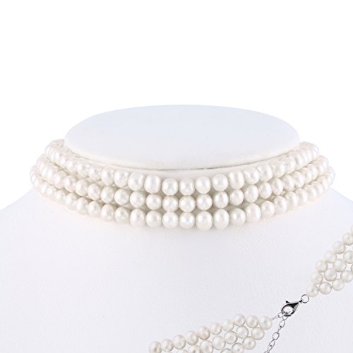 3-Row Necklace 5-6mm Freshwater Cultured Pearls 14
