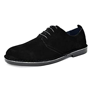 BRUNO MARC NEW YORK Men's Suede Leather Lace up Oxfords Shoes