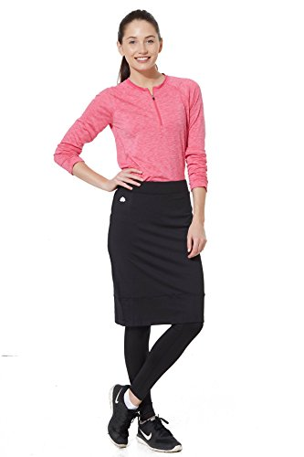 Snoga Full-Coverage Pencil Skirt w/ Cropped Leggings - Black, Medium