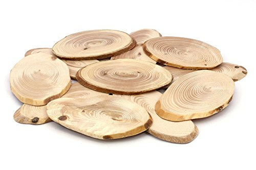 Wood Trivet for Hot Dishes,Pot Holders,Hot Pads,Round Table Top,Country Style Kitchen – Handmade from Natural Aromatic Pine Wood for Pots and Pans – P…