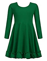 Arshiner Girls Long Sleeve Dress Loose Casual/Party Dresses with Pocket