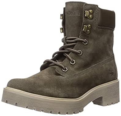 "Timberland Women's Carnaby Cool 6"" Boot Boot, Olive Suede, 055M M US"