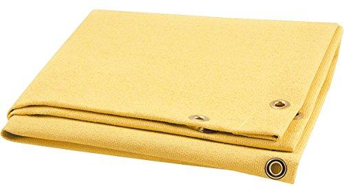 Steiner 374-3X4 Golden Glass 28-Ounce Acrylic Coated Fiberglass Welding Blanket, Gold, 3' x - Welding Gold Curtain
