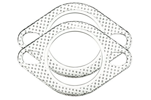 """CarXX 2.75"""" Exhaust Gasket 2-Bolt 70mm Flange High Temperature Graphite for Headers, Catback, Axleback, Downpipe (2 Pack)"""