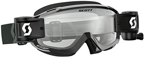 Scott Split OTG Adult Off-Road Motorcycle Goggles - Black/White/Clear/One ()