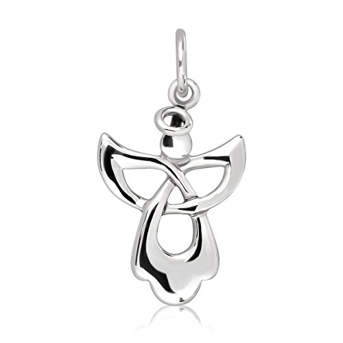 WithLoveSilver 925 Sterling Silver Guardian Angel Celtic - Necklace Angel Silver Sterling Solid