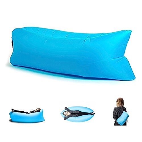 Inflatable Air Lounger, Camping Sleeping lazy Bag Couch sofa Bed ,Hangout Portable Air Inflatable Sofa for Grass,Camping, Beach, Park, Backyard With Carry Bag