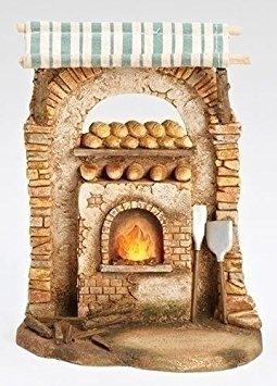 Roman Fontanini Bakery Shop LED Light Up Building Italian Nativity Village Figurine ()