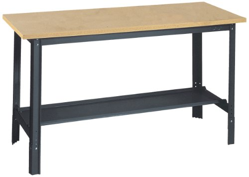 Steel 12 Gauge Workbench (Edsal UB500 Industrial Gray Heavy Gauge Steel Economy Work Bench with 1