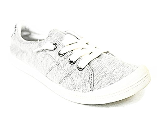 Flat Women's 01 Comfort Shoes L Forever Street gray Lace Sneakers up Casual Link q8F5HwE7