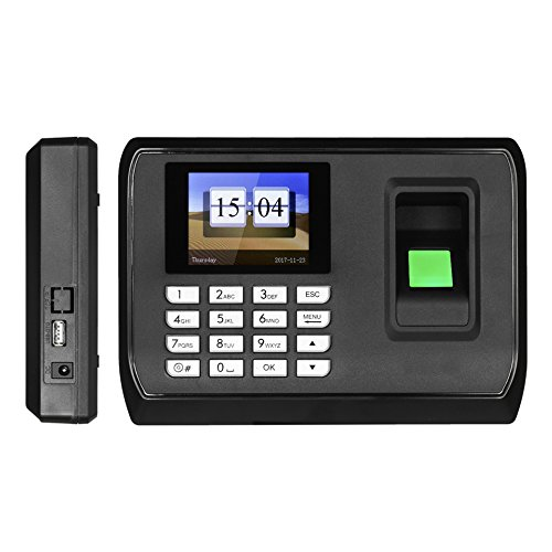 NN99 Máquina de asistencia de huellas dactilares, 2.4 pulgadas Contraseña biométrica Reloj de tiempo Empleado Registración de registro, Software libre: ...