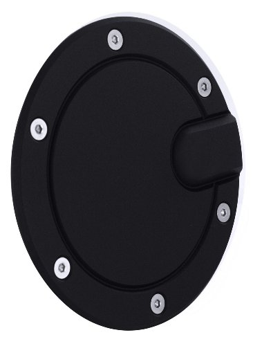 All Sales 6052K Black Billet Aluminum Ring and Fuel Door