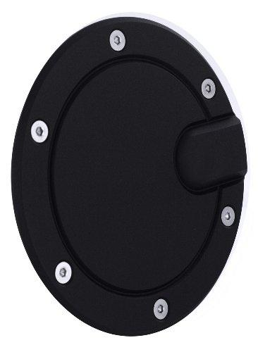 All Sales 6052K Black Billet Aluminum Ring and Fuel (Chrome Billet Aluminum Fuel Door)