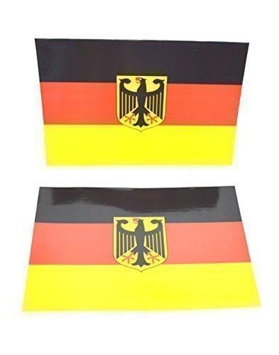 2 X Pezzi Bandiere Magnetiche Germania Da Attaccare Su Superfici