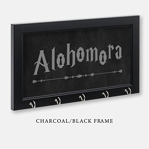 Harry Potter Inspired Alohomora Key Holder, Charcoal/Black Frame, 11-1/2