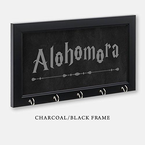 (Harry Potter Inspired Alohomora Key Holder, Charcoal/Black Frame, 11-1/2