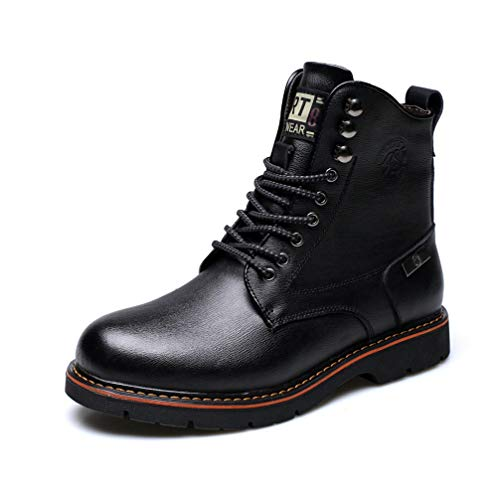 (Phil Betty Mens Martin Boots Round Toe Non-Slip Waterproof Wear-Resistant Boots)