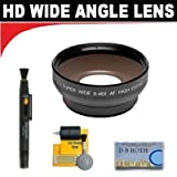 0.5x Digital Wide Angle Macro Professional Series Lens+ Lenspen + 5 Pc Cleaning Kit + DB ROTH Micro Fiber Cloth For The Sony HDR-UX5, UX7, UX10, UX20, DCR- DCD808, DVD810, DVD850, DVD908, DVD910 DVD Camcorders