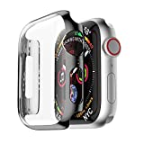 Protective Case Cover,Saying Ultra-Slim Clear Cover For Apple Watch 4 40mm Replacement Plating Protection Organizer (Black)