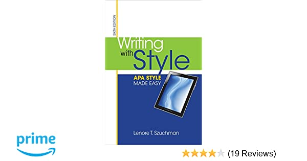amazon com writing with style apa style made easy 9781285077062